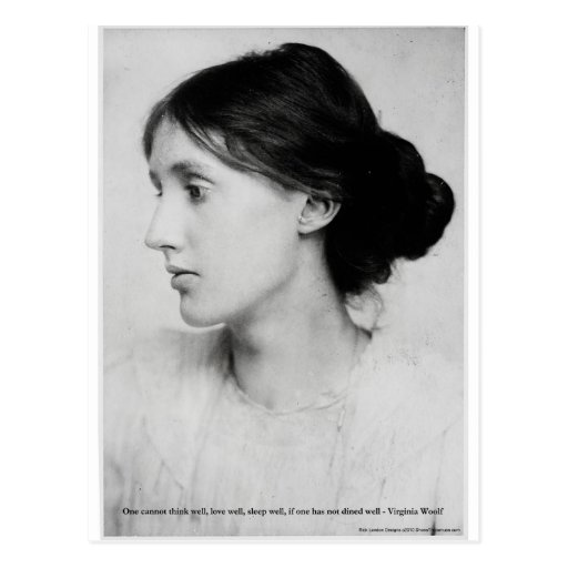 """Virginia Woolf """"Love Well"""" Love Quote Mugs & Gifts Postcard"""