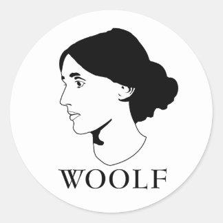 Virginia Woolf Pegatina Redonda