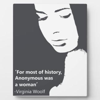 Virginia Woolf quote Plaque