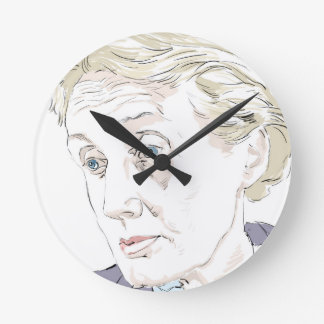 Virginia Woolf Round Clock