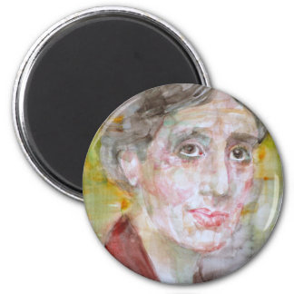 virginia woolf - watercolor portrait.2 magnet
