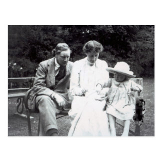 Virginia Woolf with Clive and Julian Bell, 1910 Postcard