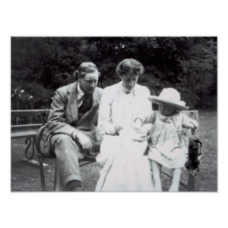Virginia Woolf with Clive and Julian Bell, 1910 Poster