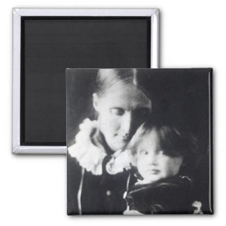 Virginia Woolf, with her mother Julia, 1884 2 Inch Square Magnet