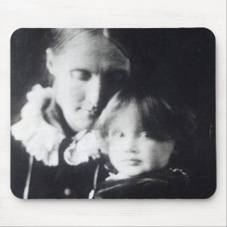 Virginia Woolf, with her mother Julia, 1884 Mouse Pad