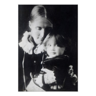 Virginia Woolf, with her mother Julia, 1884 Poster