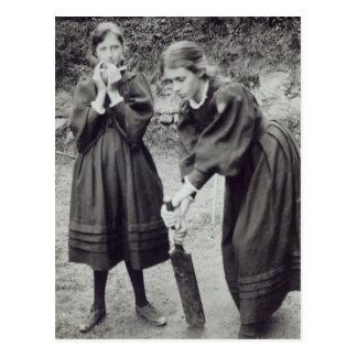 Virginia y Vanesa Stephen, en St Ives, 1894 Postal