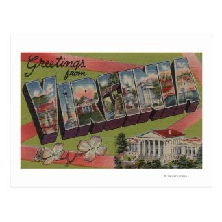 VirginiaLarge Letter ScenesVirginia 2 Postcard