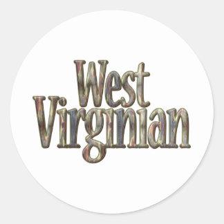 Virginian_2 del oeste Camo Pegatina Redonda