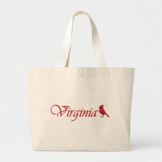Virginian Cardinal Large Tote Bag