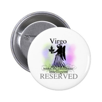 Virgo About You Pinback Button