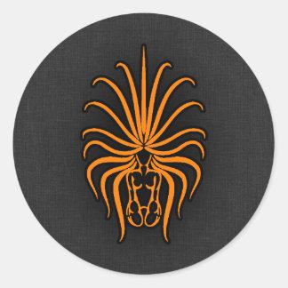 Virgo anaranjado pegatina redonda