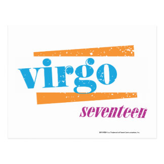 Virgo Aqua Post Cards