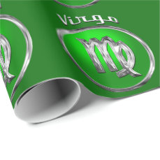 Virgo Astrological Sign Wrapping Paper