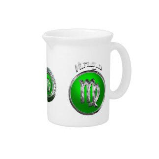 Virgo Astrological Symbol Drink Pitcher