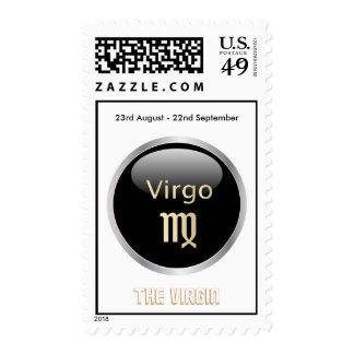 Virgo astrology star sign postage stamp