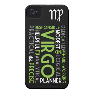 Virgo Astrology Word Collage iPhone 4/4S Case