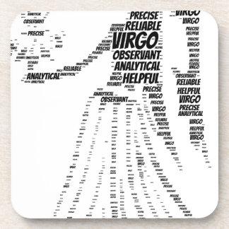 Virgo Astrology Zodiac Sign Word Cloud Beverage Coaster