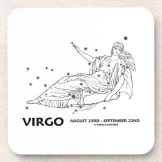 Virgo (August 23rd - September 22nd) Constellation Drink Coasters