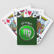 Virgo Bicycle Playing Cards
