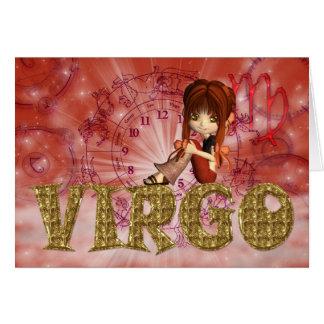 Virgo Birthday Card cute little girl