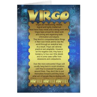 Virgo Birthday Card - Zodiac Birthday Card - Virgo