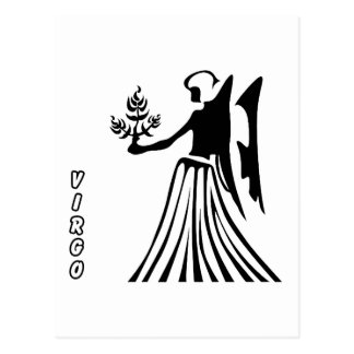 VIRGO BLANCK AND WHITE HOROSCOPES PRODUCTS POST CARDS