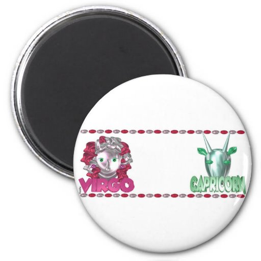 Virgo Capricorn friendship designs by Valxart Magnets