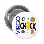 Virgo Chick 1 2 Inch Round Button