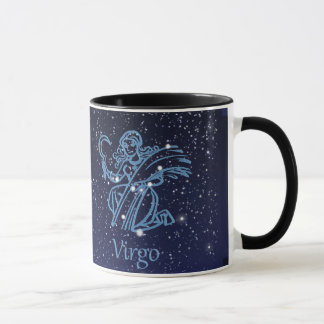 Virgo Constellation and Zodiac Sign with Stars Mug