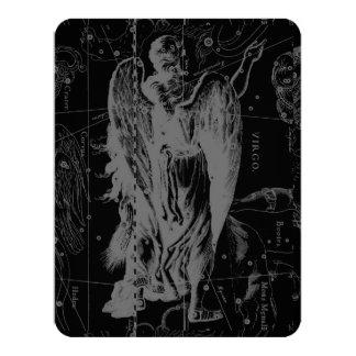 "Virgo Constellation Hevelius 1690 Aug23 - Sept22 4.25"" X 5.5"" Invitation Card"