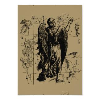 "Virgo Constellation Hevelius 1690 Aug23 - Sept22 5"" X 7"" Invitation Card"