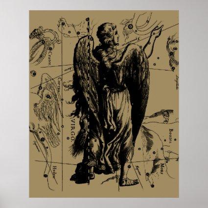 Virgo Constellation Hevelius 1690 Aug23 - Sept22 Poster