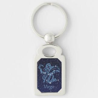Virgo Constellation & Zodiac Sign with Stars Keychain