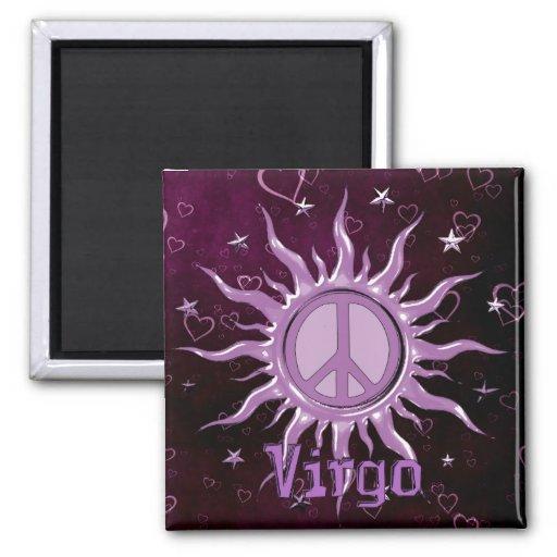 Virgo de Sun de la paz Imán Cuadrado