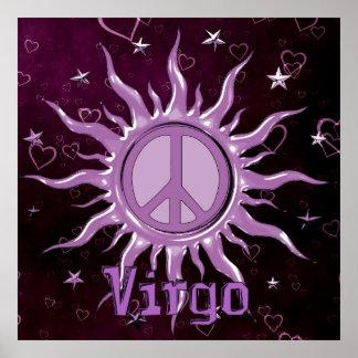 Virgo de Sun de la paz Póster