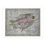 """Virgo, """"de un atlas celestial"""", pub. en 1822 (col tarjetas postales"""