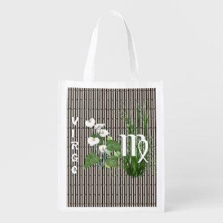 Virgo del bambú y del lirio bolsas para la compra