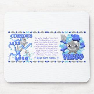 Virgo del mono del agua del zodiaco de ValxArt lle Alfombrilla De Raton