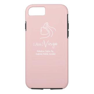 Virgo el rosa del cuarzo color de rosa de la funda iPhone 7