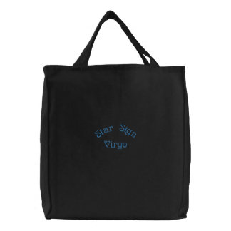 VIRGO EMBROIDERED TOTE BAG