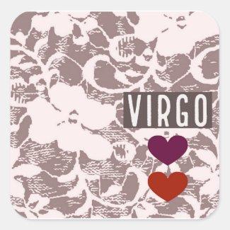 Virgo Floral Sticker