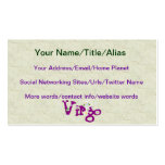 Virgo Flowers Double-Sided Standard Business Cards (Pack Of 100)