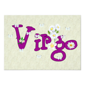 "Virgo Flowers 5"" X 7"" Invitation Card"