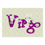 Virgo Flowers Large Business Cards (Pack Of 100)