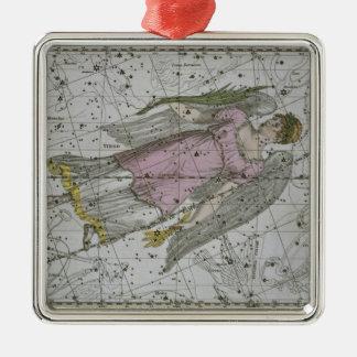Virgo, from 'A Celestial Atlas', pub. in 1822 (col Metal Ornament