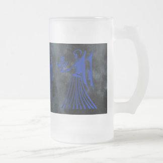 Virgo Frosted Glass Beer Mug