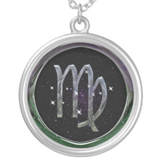 Virgo Glass Silver Plated Necklace