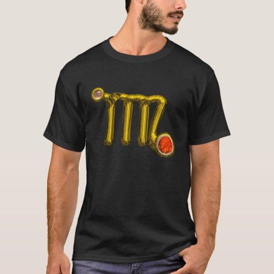 VIRGO / GOLD ,GREY ORANGE AGATE ZODIAC SIGN JEWEL T-Shirt