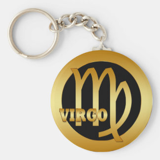 VIRGO GOLD ZODIAC SIGN KEYCHAIN